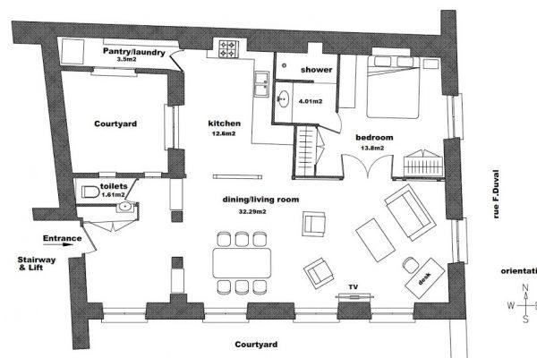 location meubl e longue dur e dans le marais paris 4e habeo. Black Bedroom Furniture Sets. Home Design Ideas