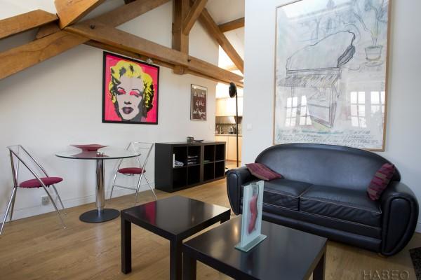location temporaire t2 meubl beaubourg paris 4e habeo. Black Bedroom Furniture Sets. Home Design Ideas