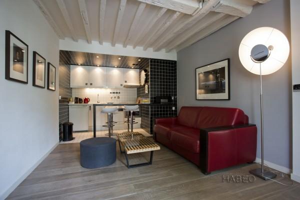 2 pi ces meubl et equip dans le marais paris 3 me habeo. Black Bedroom Furniture Sets. Home Design Ideas